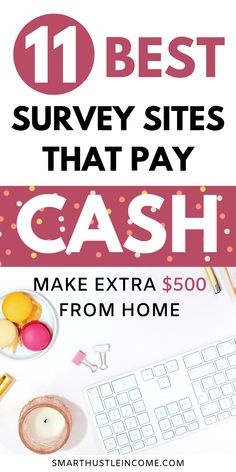 Discover the 11 best online surveys that actually pay and on time. These are all legitimate online surveys that you can join and make extra money on the side. FREE TRAINING: How to Earn a Side-Income Online. Make money onilne survey Make Money Taking Surveys, Surveys That Pay Cash, Online Surveys For Money, Earn Money From Home, Earn Money Online, Make Money Blogging, Way To Make Money, Free Paid Surveys, Make Cash Online