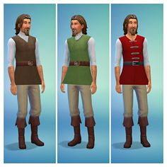 More Medieval Male ShirtsThis is a recolor of the Prince Phillip Casual top by Enchanted Dominion. You'll need the original mesh which you can find here. Seeing as Medieval clothing for male sims is...