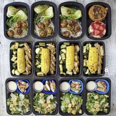 meal prep plans Teriyaki Turkey Meatballs with Bok Choy and Sweet Potato Noodles Healthy Meal Prep, Healthy Foods To Eat, Healthy Snacks, Healthy Eating, Healthy Recipes, Clean Eating, Meal Prep Plans, Diet Meal Plans, Food Prep