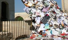 5,000 Books Pour Out of a Building in Spain - My Modern Metropolis