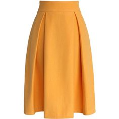 Chicwish Full A-line Suede Skirt in Yellow