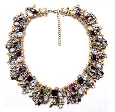 Gemmed-Out Collar Necklace