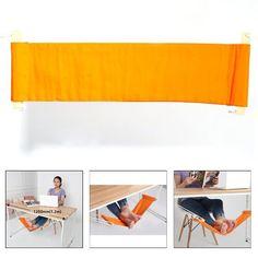 Pellor Mini Portable Repose-pieds d'Orange Hamac Bureau pour Travailler dans le Confort Bureau à Domicile PC Détente: Amazon.fr: Cuisine & Maison