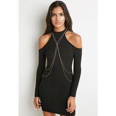 Forever 21 Draped Body Chain ($8.90) ❤ liked on Polyvore featuring jewelry, forever 21 jewelry, forever 21, womens jewellery, pandora jewelry and chain jewelry