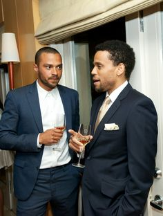 Two Blue Eyed Black Gentlemen: Jessie Williams and Michael Ealy *swoons*
