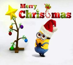 Best Minions Images: Minions are cute and lovely. Minions are very funny. They make people laugh at their silly things. Minions laugh at each other. Amor Minions, Cute Minions, Minions Despicable Me, Minions Quotes, Minion Christmas, Christmas Humor, All Things Christmas, Funny Merry Christmas Quotes, Merry Xmas