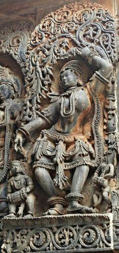 """Dancing Apsara."" Halebidu Temple. Hoysala Dynasty. 13th Century CE. Karnataka, India."