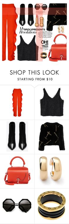 """""""#PolyPresents: New Year's Resolutions"""" by nataskaz ❤ liked on Polyvore featuring MANGO, Yves Saint Laurent, Moschino, Carven, Ippolita, Bulgari, contestentry and polyPresents"""