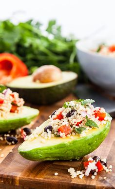Mexican Avocado Boats #vegan #vegetarian