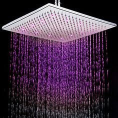 Shower Equipment Bathroom Fixtures Trend Mark 7colors Colorful Led Shower Head Changing Shower Head No Battery Led Waterfall Single Shower Head Round Bathroom Accessories Dependable Performance