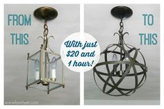 Easy and inexpensive DIY orb chandelier - Lovely Etc.