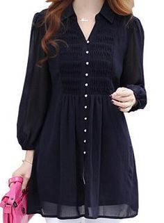Women Blouses Summer Blouse V-Neck 5XL 6XL Plus Size sleeve Long Blouses KB532
