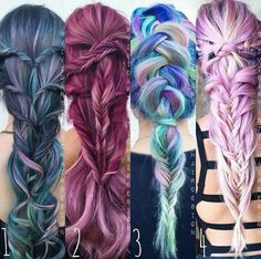 I love the braids and the colors wow