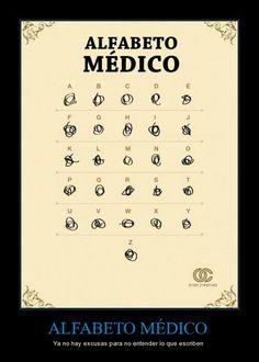 Alfabeto de los médicos jajaja y a veces de los odontólogos (me incluyo)