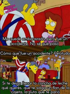 Frases...si frases...*c va* Funny Spanish Memes, Spanish Humor, Funny V, Stupid Funny Memes, Pinterest Memes, Top Memes, The Simpsons, Otaku Anime, Pokemon