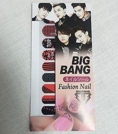 Bigbang Fashion Nail Art Sticker  KPOP Star Gift New