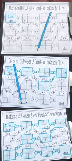 This was the perfect way for my 8th grade math and Geometry students to practice finding distance between two points on a graph. My students loved practicing using the distance formula and Pythagorean theorem by working their way through this fun middle school math worksheet. After my high school math students completed this math worksheet they were so much better finding the distance between two ordered pairs, using the distance formula, and even Pythagorean theorem.