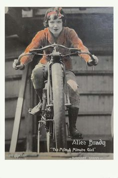 Sideshow World...wall of death rider: Alice Brady