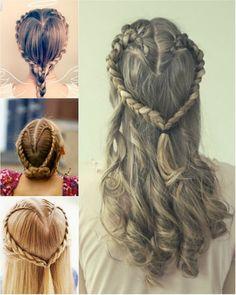 cute heart braid #heart #braids