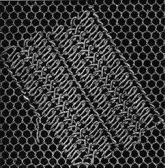 Net and damask stitches - Chapter IV - Encyclopedia of Needlework, Net embroidery, net patterns, net darning, damask stitches Knitting Stiches, Knitting Patterns, Needle Lace, Lace Embroidery, Cutwork, Tulle Lace, Hobbies And Crafts, Damask, Needlework
