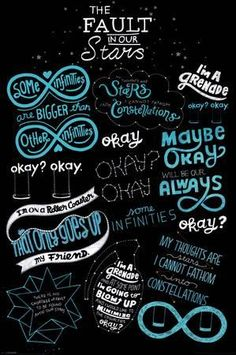 A great poster from the movie The Fault in Our Stars! Doodles and quotes from the film based on the novel by John Green. Need Poster Mounts. Star Quotes, Movie Quotes, Book Quotes, John Green Quotes, John Green Books, The Fault In Our Stars, John Green Libros, Jhon Green, Augustus Waters