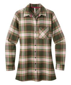 Rainforest Plaid Penny Button-Up Tunic