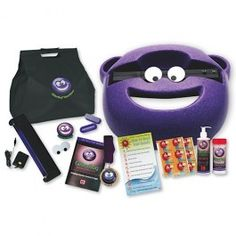 GlitterBug Delux Kit - cheerful and colorful, this portable disclosure center helps you get serious about hand hygiene!