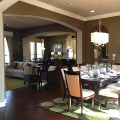 Open concept--living,dining & kitchen
