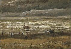 Van Gogh: View of the Sea at Scheveningen Vincent van Gogh Painting, Oil on Canvas Scheveningen: August - 21 or 22, 1882 Location unknown