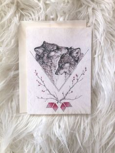 Wolf Valentine's Day Card by NestandBurrow