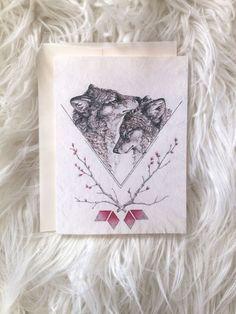 Wolf Valentine's Day Card by NestandBurrow
