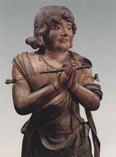 運慶(Unkei) : 八大童子像(Hachidai Dojizo) : 矜羯羅童子 (Kongara-Doji)