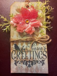 Diane Krause as the Happy Scrapper with Tim Holtz's 12 Tags of 2013 - December