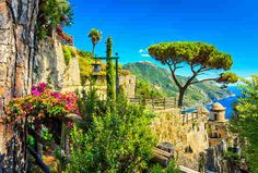Ravello  A romantic cliffside alternative on the Amalfi Coast  Perched high in the hills atop the glamorous Amalfi Coast, Ravello offers stupid-beautiful views of the Mediterranean, but its dramatic cliffside location keeps crowds at ba