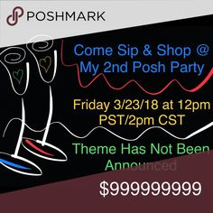 Co-Hosting My 2nd Poshmark Party Friday, 3/23/2018 Looking for closets who follow all Posh Rules - Poshmark Compliant Closets Only.  If you have one of those closets or have favorite closets who follow all posh rules, please share/comment so I can check them out for possible Host Picks.  Sparkles ✨ & Happy Poshing! Other