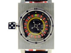 Mens Azimuth SP-1 Roulette Stainless Steel Automatic Watch w/Black & Red…