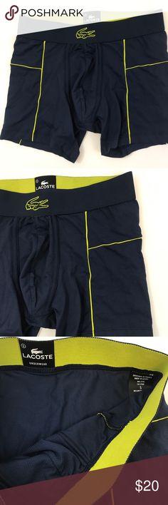 Lacoste Men's Motion Micro Mesh Boxer Brief NavyS Lacoste Men's Motion Micro Mesh Boxer Brief Navy Yellow Size S Lacoste Underwear & Socks Boxer Briefs