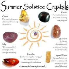 Summer Solstice Crystals The Longest Day, Crystal Magic, Crystal Healing Stones, Crystal Grid, Healing Rocks, Crystal Shop, Chakra Crystals, Crystals And Gemstones, Stones And Crystals