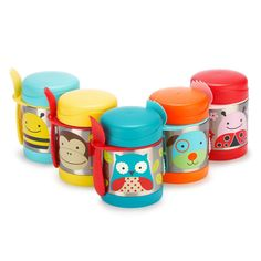 Skip Hop Baby Zoo Little Kid and Toddler Blossom Butterfly Insulated Food Jar and Spork Set, Multi, Franck Fischer, Thermos, Skip Hop Zoo, Stainless Steel Containers, Stretch Mark Cream, Keep Food Warm, Unique Toys, Food Jar, Baby Swaddle