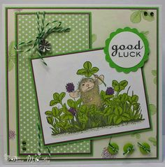 Handmade by Fiona McCarthy: House-Mouse Good Luck Card