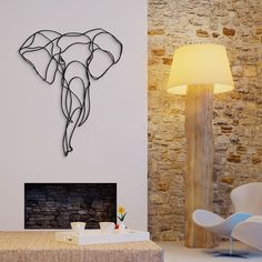 Discover latest collection: Respectful Animal Trophies with the Born Free Foundation. Gift ideas, home decoration, premium wall art. Made in France. Art Fil, Metal Art Projects, Simple Line Drawings, 3d Wall Art, 3d Prints, Wire Art, Minimalist Decor, Wall Sculptures, Wall Signs