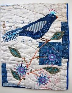 love blue, quilts and birds