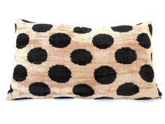 Authentic Ikat Velvet Pillow Cover Turkish IKAT Silk by DivanCushu