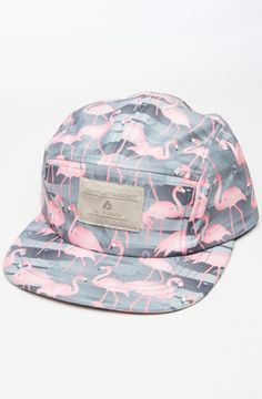 Flamingo Five Panel Hat - Black by Lira use rep code: OLIVE for 20% off!