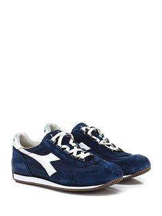 DIADORA Heritage - Sneakers - Uomo - Sneaker in tessuto e camoscio effetto  vintage con suola e526482ebbf