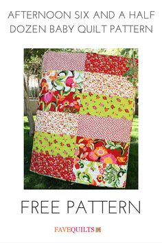 Cute baby quilt pattern!