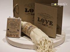 L'amor com més orgànic millor, recordatoris, llibretes i cintes de paper reciclat amb un toc rústic