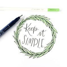 Learn 3 fun ways to illustrate your own creative wreaths paired with modern brush calligraphy using /tombowusa/ products and /pantone/ 's color of the year: greenery! @Renmadecalligraphy gives you step by step directions on how to create your own spin on these unique art pieces.