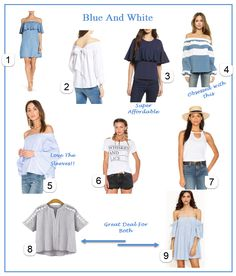 Blue and White for spring and summer! Check out my lust list with luxe and affordable options!!