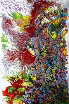 """Saatchi Online Artist: Igor Eugen Prokop; Mixed Media, 2012, Painting """"Nature's Riot"""""""